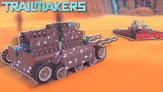 TANK BATTLE! - Trailmakers Multiplayer Gameplay - Tank Building & Battle!