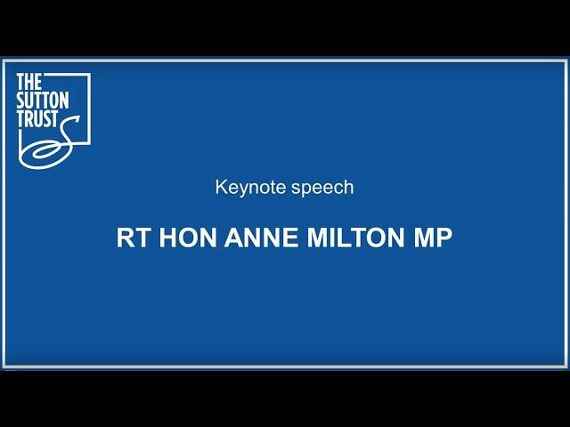 Keynote speech Anne Milton MP #BetterApprenticeships