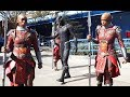 """Black Panther"" T'Challa & Dora Milaje warriors arrive at Disneyland Resort"