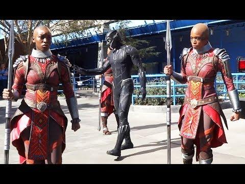 "NEW ""Black Panther"" T'Challa & Dora Milaje warriors arrive at Disneyland Resort"