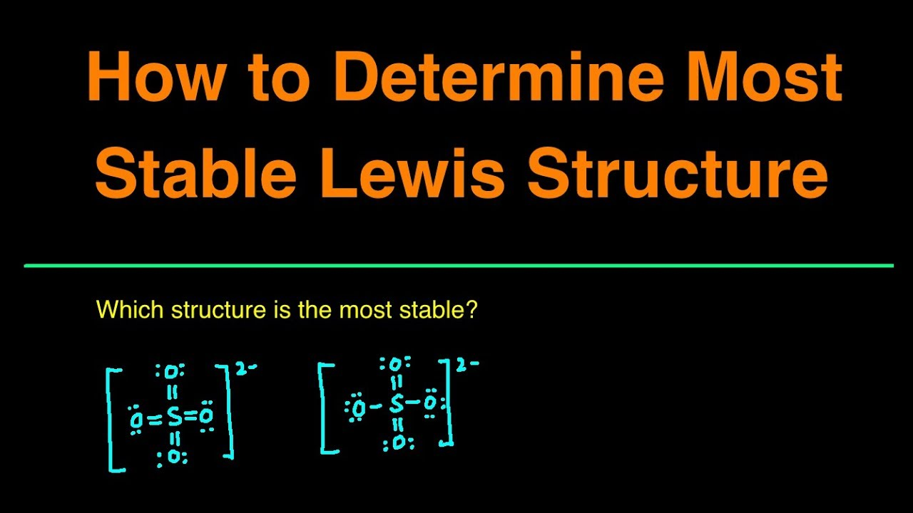 How To Determine The Most Stable Lewis Structure Practice Problems Examples Questions Summary Youtube
