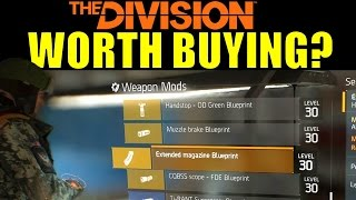 The Division: High End (Gold) Attachments | Worth Buying? (Weapon Mod Blueprints)