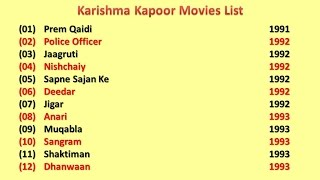 Karisma Kapoor Movies List