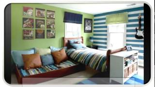 Blue Modern Trundle Bed