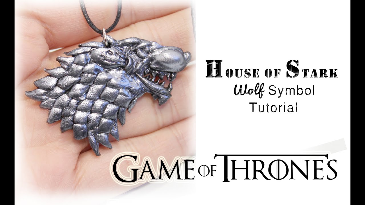 Game Of Thrones House Of Stark Symbol Polymer Clay Tutorial Youtube