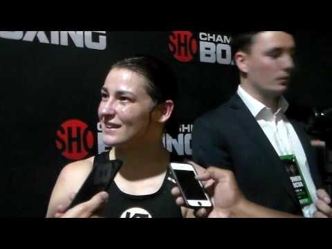 Katie Taylor Post Fight Interview @ #BronerGarcia