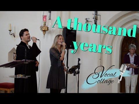 Hochzeitslied A thousand years - Vocal Collage: Sängerin Lila und der singende Pfarrer J. Rohrbach