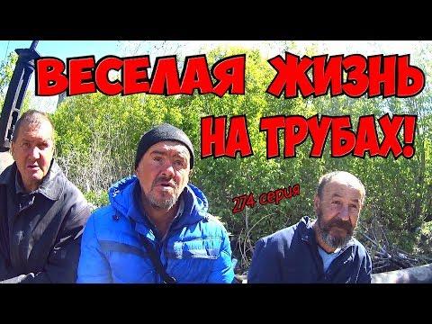 One day among homeless!/ Один день среди бомжей -  274 серия - Весёлая жизнь на трубах! (18+)