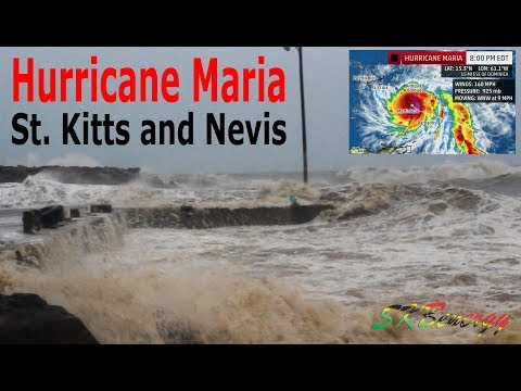 Hurricane Maria Cat 5 brushes St. Kitts along its destructive path to Puerto Rico !!!!