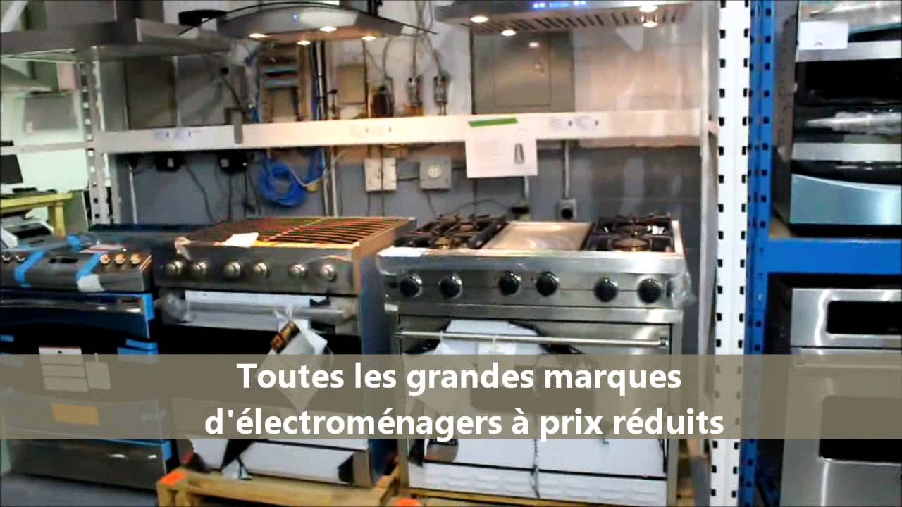 Electromenagers longueuil video youtube for Liquidation electromenager longueuil