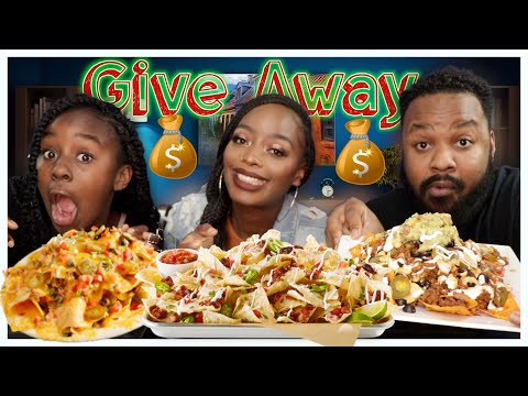 VEGAN LOADED NACHO SUPREME | 1ST HOLIDAY GIVEAWAY (CLOSED) |  MUKBANG