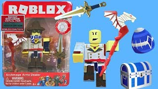 Roblox Toys Archmage Arms Dealer, Series 4, Code Item, Unboxing & Toy Review
