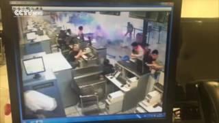 بالفيديو.. انفجار في مطار شنغهاي في الصين وإصابة 3 أشخاص