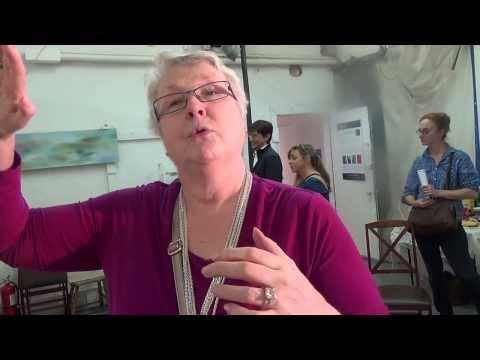 Painter Explains Art to Tourists At Chashama Art Program Harlem--Republic Reporters