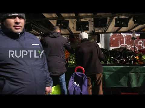 France: Paris Belleville Market Bustling Despite Lockdown