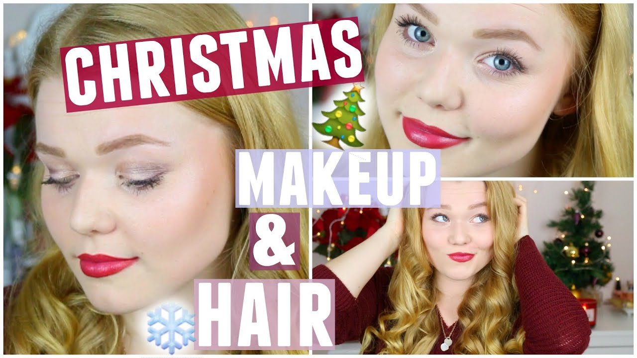makeup und haare fà r weihnachten ready with me for christmas