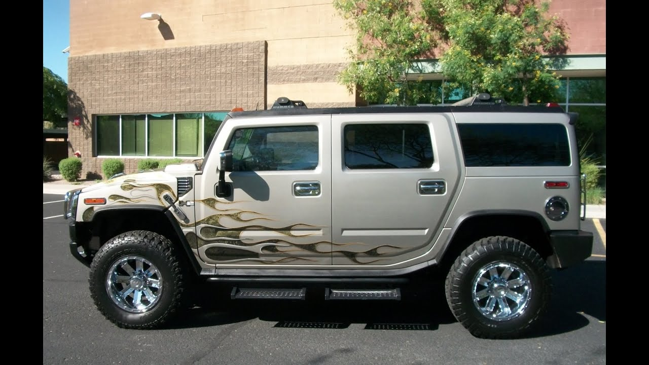 "2003 Hummer H2 Loaded Leather 4WD Custom 18"" Rims PR1150"