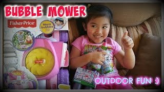 SO FUN UNBOXING of Fisher-Price BUBBLE MOWER, Crayola Outdoor Bubbles, Bubble Wand
