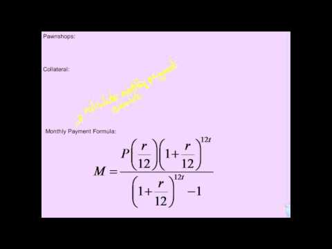 Financial Algebra   Loans   Monthly Payment Formula and Loan Length Formula