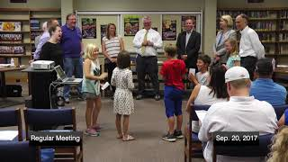 District 96 Board of Education Meeting 09-20-17