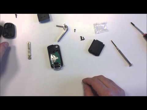 Peugeot CITROEËN Umbau Schlüssel Einleitung Einbau