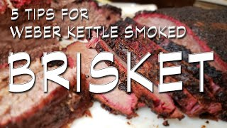 5 Tips for Weber Kettle Smoked Brisket  offset smoking on a kettle