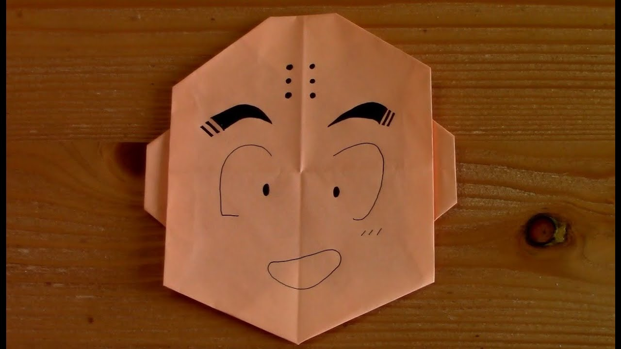 Origami Dragon Ball Krillin Youtube