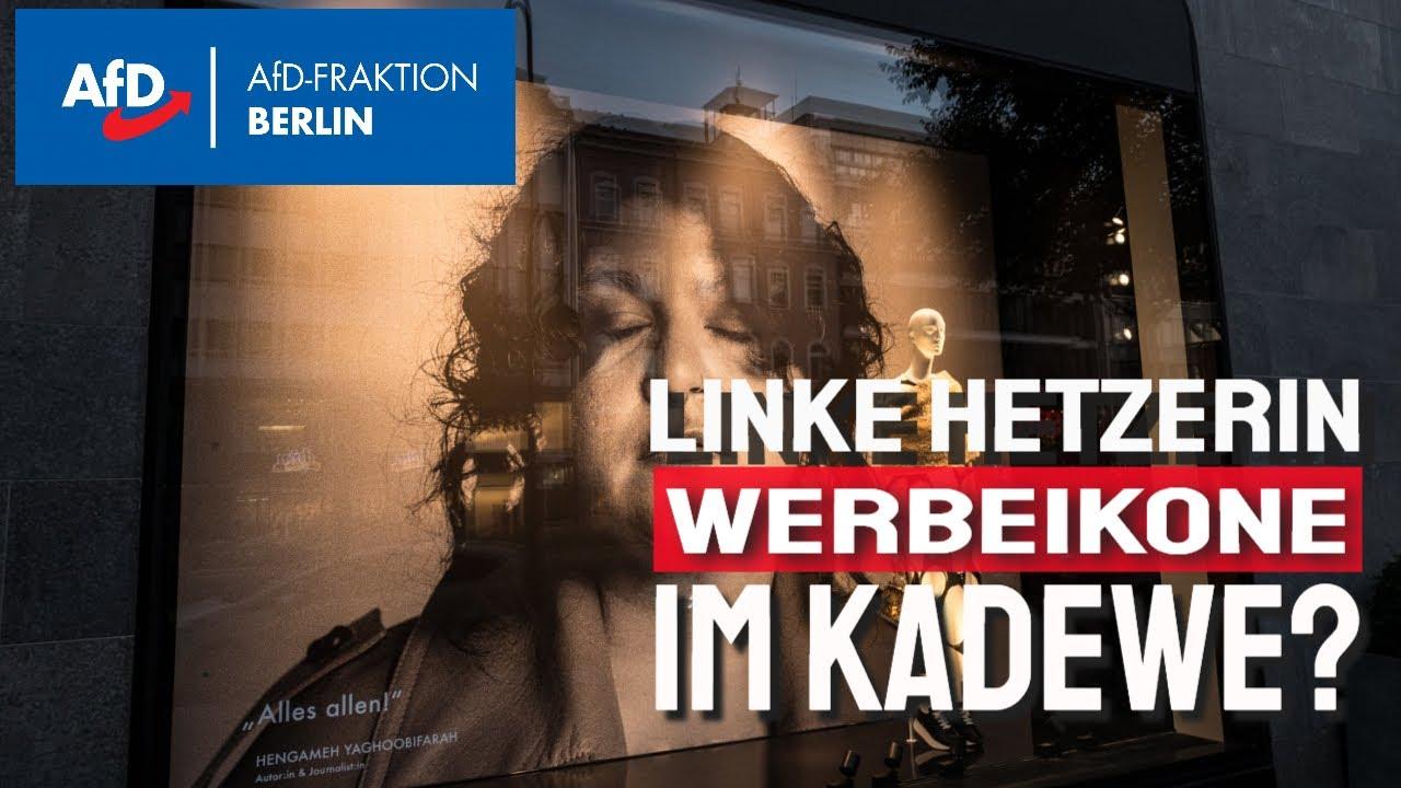 KaDeWe ohne linksradikale Deko - AfD wirkt!