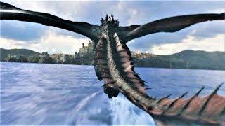 GOT 8x05 Daenerys Destroys Ships with Drogon Scene