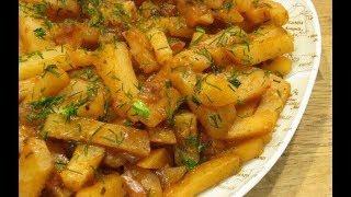 Готовим жареную картошку с салом!
