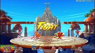 Brawlout (PS4/XBOX One) | Yooka-Laylee & Juan vs. King Apu & Paco | Fight #3
