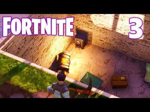 [3] Super Secret Treasure Basement!!! (Let's Play FortNite Multiplayer)