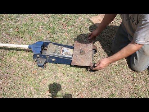 Making a sturdy transmission platform for a floor jack