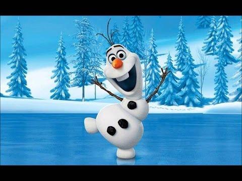 Мультфильм снеговик с морковкой