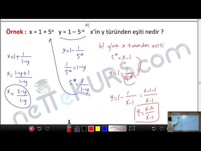 YÖS Matematik - Üslü İfadeler - 2 / nettekurs.com - Online YÖS Dershanesi
