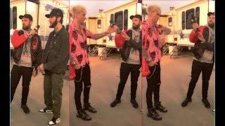 MGK Swings On Adam22 At Rolling Loud LA