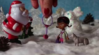 Доктор плюшева и Дед Мороз. Мультфильм из игрушек. Играем дома.