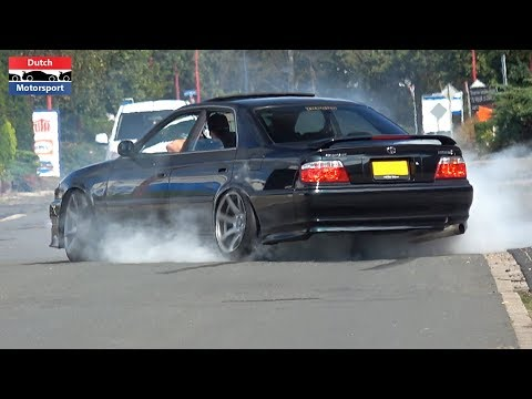 Toyota Chaser JZX100 W/ Straight Pipe - BURNOUTS & Loud Accelerations!