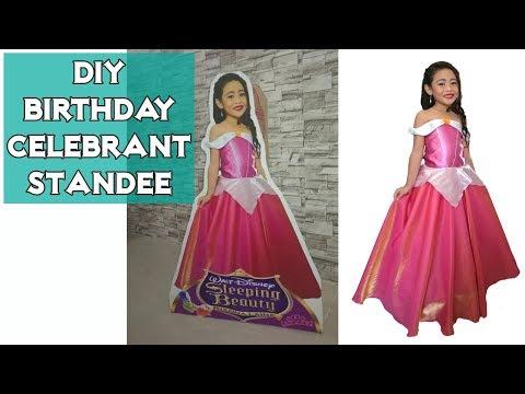 DIY Birthday Celebrant Standee   Party Decor Idea