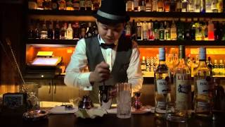 Bacardi Legacy Cocktail Competition 2015 in China (the final competitor Jimmy Zhang)