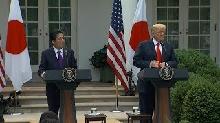 President Trump holds joint news conference with Japanese PM Abe | ABC News