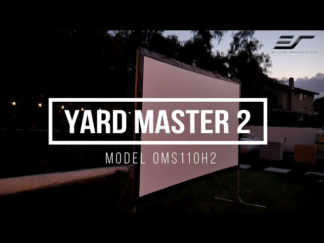 JoelsterG4K Reviews Elite Screens Yard Master 2 Series- Fast-folding Frame Outdoor Projection Screen