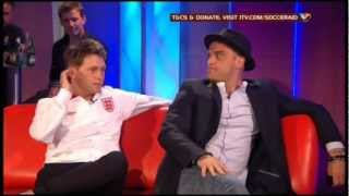 Mark Owen and Robbie Williams Interview on Soccer Aid 25/05/12