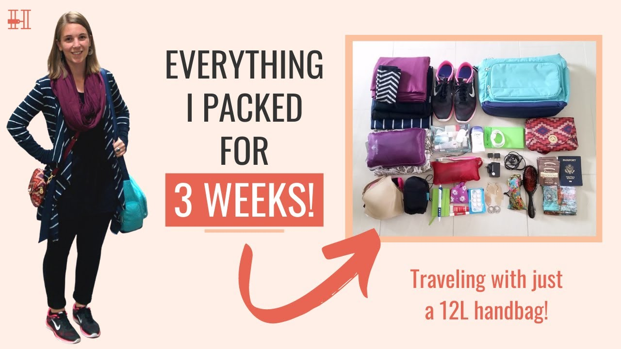 2dc67237f1 Ultralight Packing List: I Traveled for 3 Weeks with a 12L Handbag - Her Packing  List