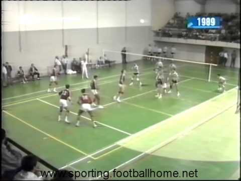 Voleibol :: Benfica - 3 x Sporting - 0 de 1989/1990