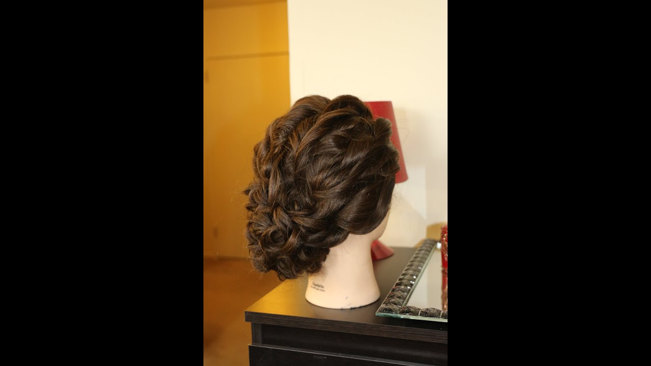 Hair Tutorial Bridal Curly Updo Youtube