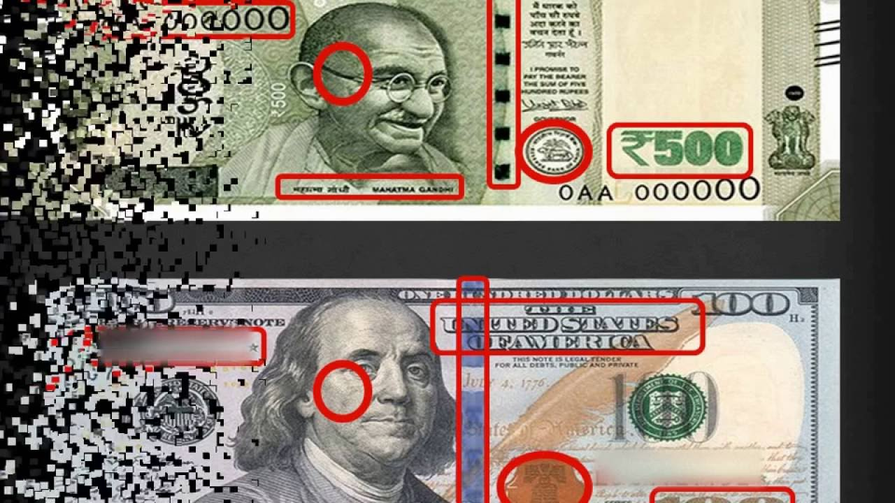 Indian 500 Ru Vs American 100 Dollar
