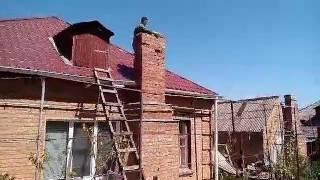 видео Ремонт кирпичного дымохода