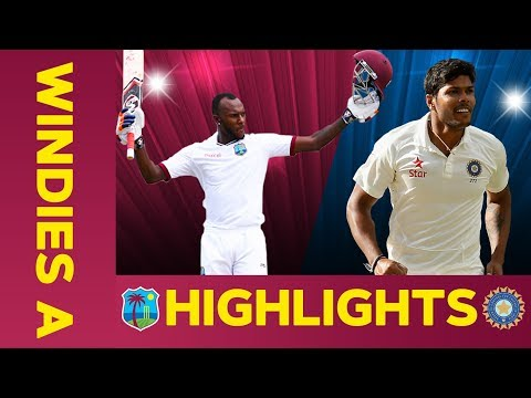 West Indies A vs India A - Match Highlights | 3rd Test - Day