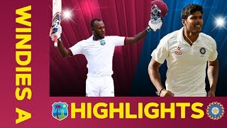 West Indies A vs India A - Match Highlights | 3rd Test - Day 3 | India A Tour of West Indies